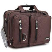 FreeBiz 17-Zoll-Laptop-Tasche Multifunktions -Laptop-Aktenkoffer -Rucksack mit Tragegriff und Schultergurt Passend bis zu 17,3-Zoll-Laptop / Notebook / MacBook / Chromebook für Dell, Asus, Msi (17,3 Zoll, Braun) - 1