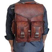 Classydesigns Vintage Leder Macbook Aktentasche 2-in- 1 Lederschultasche Rucksack Laptoprucksäcke - 1