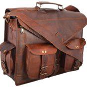* CLASSYDESIGNS * Weinlese- Leder -Laptop-Tasche 15