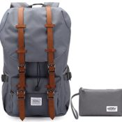 KAUKKO Mode Backpack Herren Damen Rucksack fit für 17-Zoll Laptop Grau[2PCS]