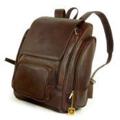 Großer Lederrucksack Größe XL / Laptop Rucksack bis 15,6 Zoll, für Damen und Herren, Braun, Jahn-Tasche 709